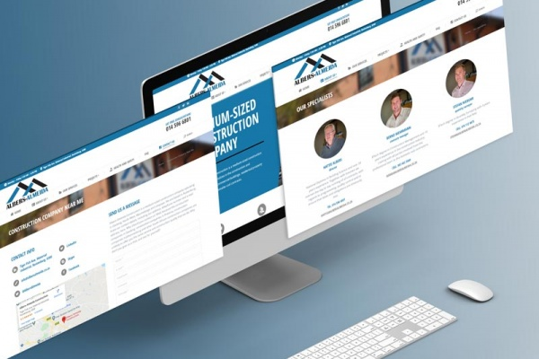 Construction Company Website Johannesburg Web Design Isometric Screens