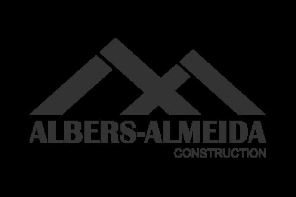 Construction Website. Albers Almeida Logo Grey