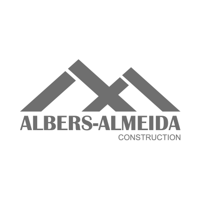 Construction Website. Albers Almeida Logo Grey