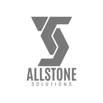 Granite Website Design. Allstone Solutions Logo Grey