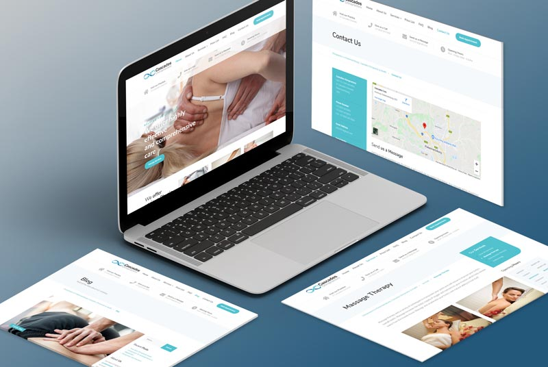 Chiropractic Website DesignJohannesburg Isometric Screens