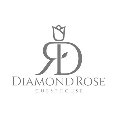 Guest House Website. Diamond Rose Guest House Logo
