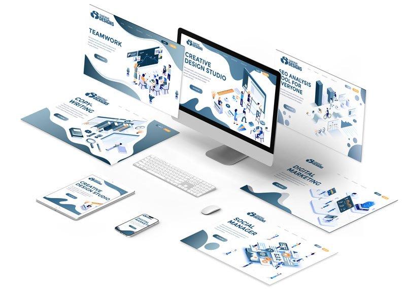 Isometric Computer Screens of Johannesburg Web Design Company