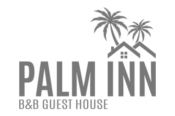 Palm Inn Guest House Logo in grey