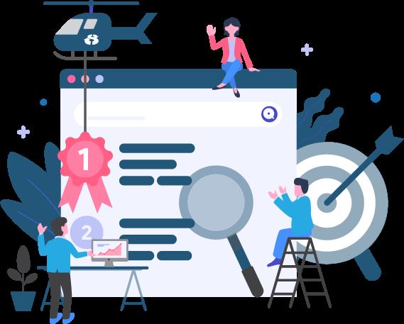 Search Engine Optimisation - Isometric Graphic - e marketing, ecommerce website, website layout, website creation