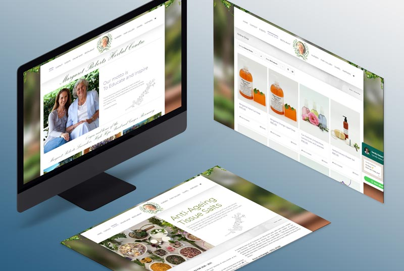 Web Designer in Johannesburg Isometric Screen Mock-up - Herbal Centre